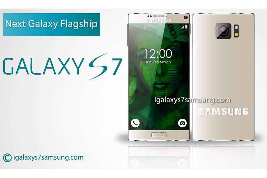 Концептуальный Galaxy S7, который не имеет рамок экрана