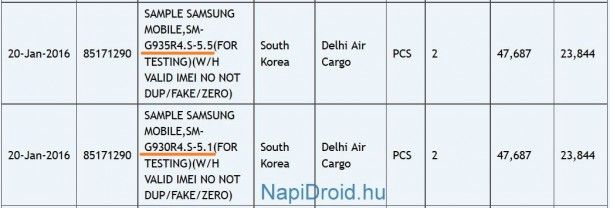 Размер экрана Samsung Galaxy S7 и Galaxy S7 Edge подтвержден