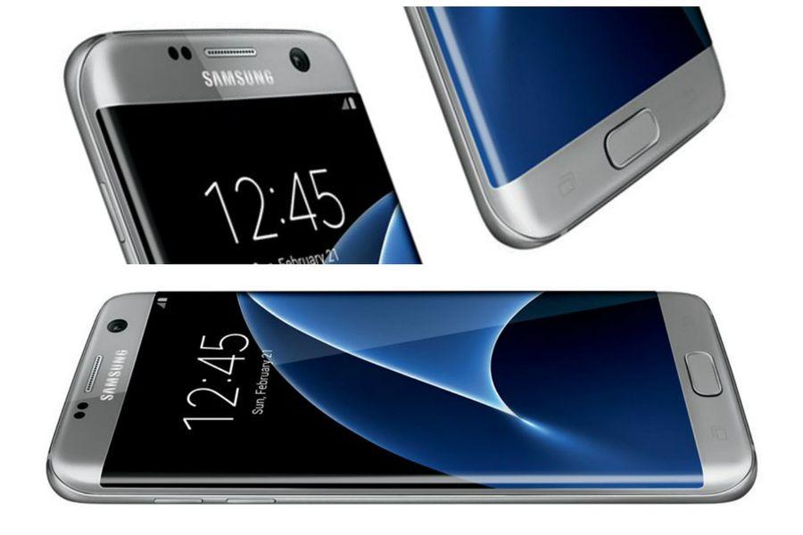 Золотистый Galaxy S7 и серый Galaxy S7 Edge на фото