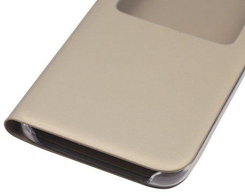 Чехол Samsung S-View Cover Gold (золотистый) для Galaxy S7