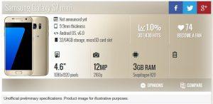 Samsung Galaxy S7 Mini в базе данных GSMArena