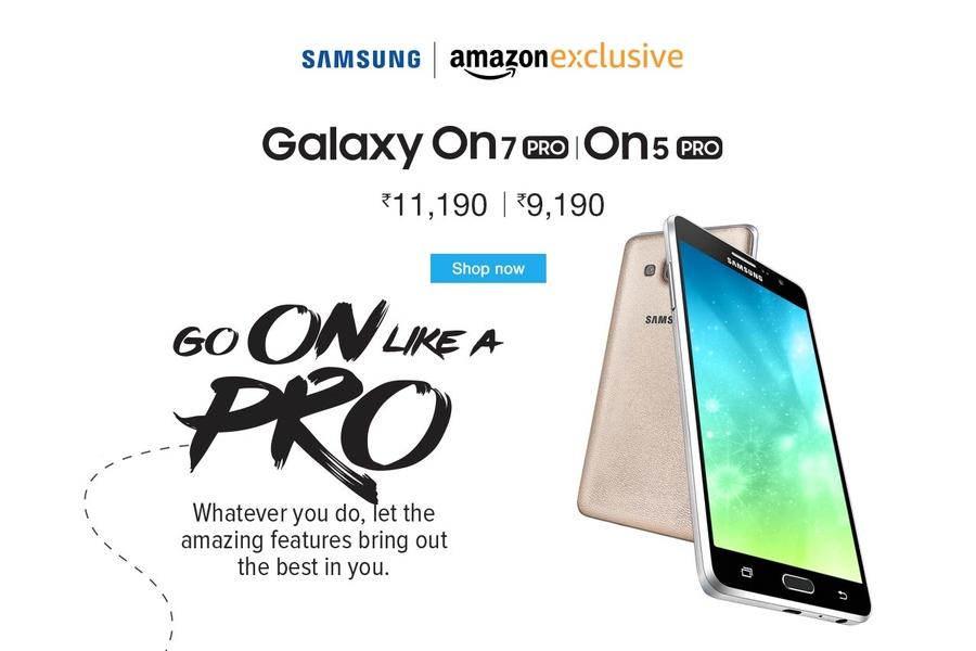 Представлены недорогие Samsung Galaxy On5 Pro и Galaxy On7 Pro