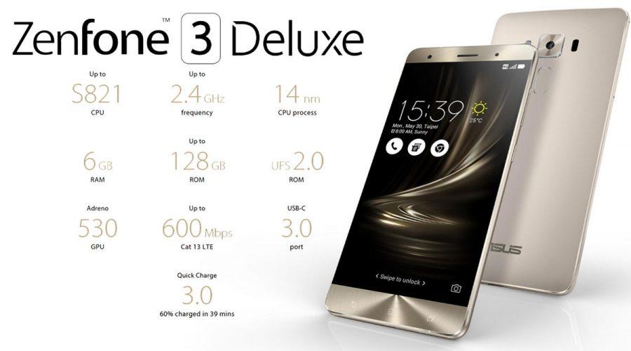 Основные технические характеристики Asus ZenFone 3 Deluxe