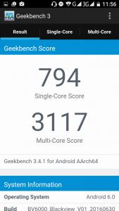 Тестирование Blackview BV6000 в GeekBench