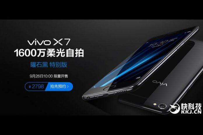 Vivo X7 Obsidian Black Edition: