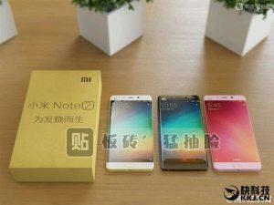Одно из первых фото Xiaomi Mi Note 2