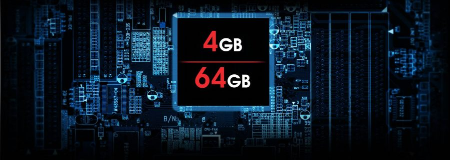 4 Gb ОЗУ и 64 Gb Flash