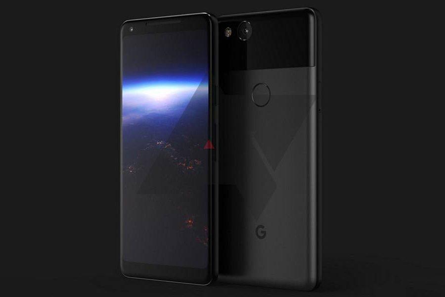 Google Pixel 2 на рендере