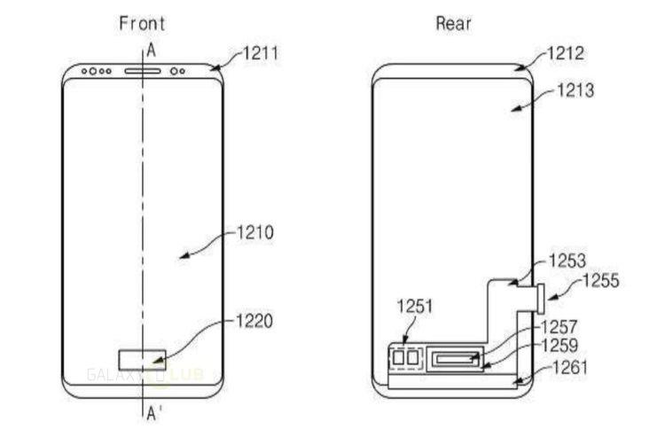 Сканер отпечатков пальцев Samsung Galaxy Note 9